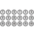 poker chips set black and white isolated on white vector image vector image