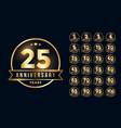 premium golden anniversary emblem set in line vector image vector image