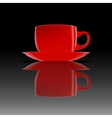 Red cup on a smooth surface vector image vector image