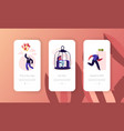 room escape freedom mobile app page onboard screen vector image