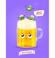 set beer characters cute cartoons vector image vector image