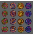 Set of 4 colors floral design elements