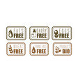 set of allergen free labels trans fats vector image vector image