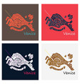 set of city map of venice with well organized vector image vector image