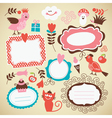 set of frames and decor elements vector image vector image