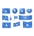 set somali flags banners banners symbols vector image vector image