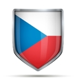 Shield with flag Czech Republic vector image