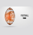 silhouette of a footballl ball vector image