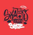 skaters gonna skate t-shirt design vector image vector image