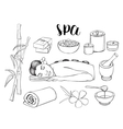 Spa doodle set vector image vector image