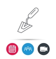 Spatula icon Finishing repair tool sign vector image vector image