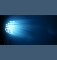 spotlight on the football arena vector image vector image