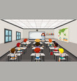 students in modern classroom vector image vector image