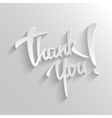 thank you lettering greeting card vector image