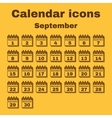 The calendar icon September symbol Flat vector image vector image