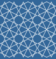 tile pattern or blue and white background vector image vector image