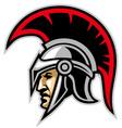 trojan army mascot vector image vector image