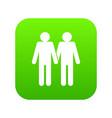 two men gay icon digital green vector image vector image