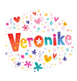 veronike girls name vector image vector image