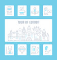 website banner and landing page tour london vector image