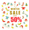 winter sale clothing and accessories vector image vector image