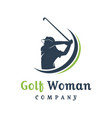 womens golf sports logo design vector image vector image