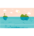 Sea game background vector image