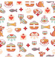 veterinary pets clinic animal seamless pattern vector image