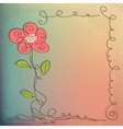 Hand Drawn floral background with detailed frame vector image