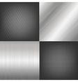 Set Of Metal Texture Background vector image