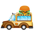 A vehicle selling burgers vector image vector image