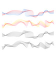 abstract line waves digital design set vector image vector image