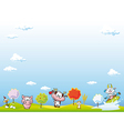 animal farm background vector image vector image