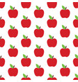 apple pattern on the white background vector image
