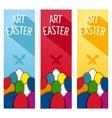 Art Easter concept flyer vector image