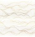 background gold ocean wave pattern vector image