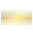bank building golden halftone array vector image