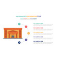 bank building infographic template concept with vector image vector image