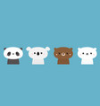 bear set panda koala grizzly polar cub cute vector image vector image