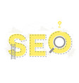 big word seo and search engine optimization vector image