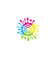 brush target logo icon design vector image
