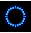 Burner Gas Ring with Blue Flame on Dark Background vector image