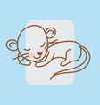 cartoon zodiac silhouette on white background vector image vector image