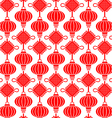 China Lamp Seamless Pattern vector image