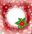 Christmas card with flower poinsettia vector image vector image