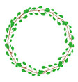 circle frame from green branches wedding vector image