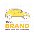 creative of side view car with vector image vector image