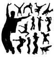 dancing people set vector image vector image