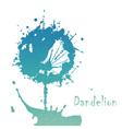 Decorative flover dandelion vector image vector image