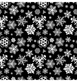 Different white snowflakes on black background vector image